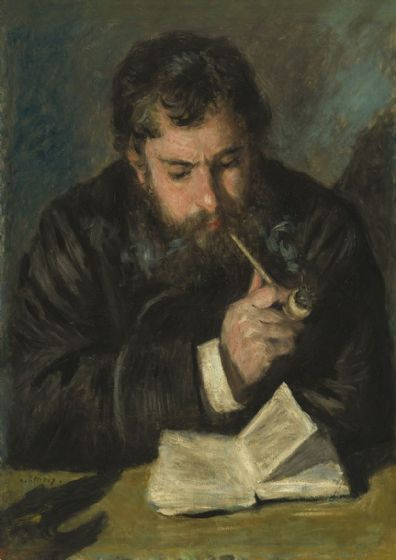 Renoir, Pierre Auguste: Claude Monet. Fine Art Print/Poster. Sizes: A4/A3/A2/A1 (003951)
